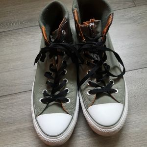 Men's Converse high top nylon green